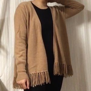 ply cashmere Sweaters - PLY CASHMERE • Fuzzy Open Fringe Cashmere Cardigan